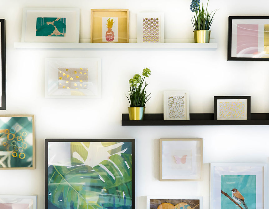 Gallery wall interieur