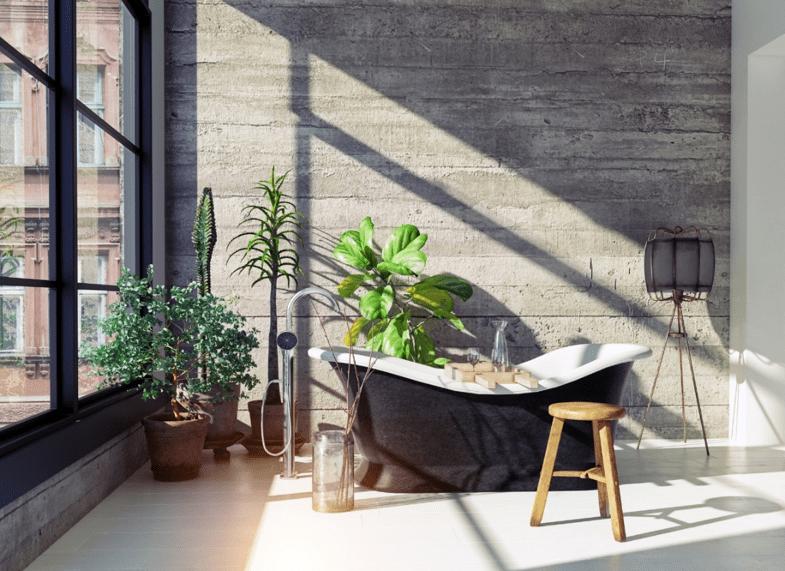Urban jungle badkamer
