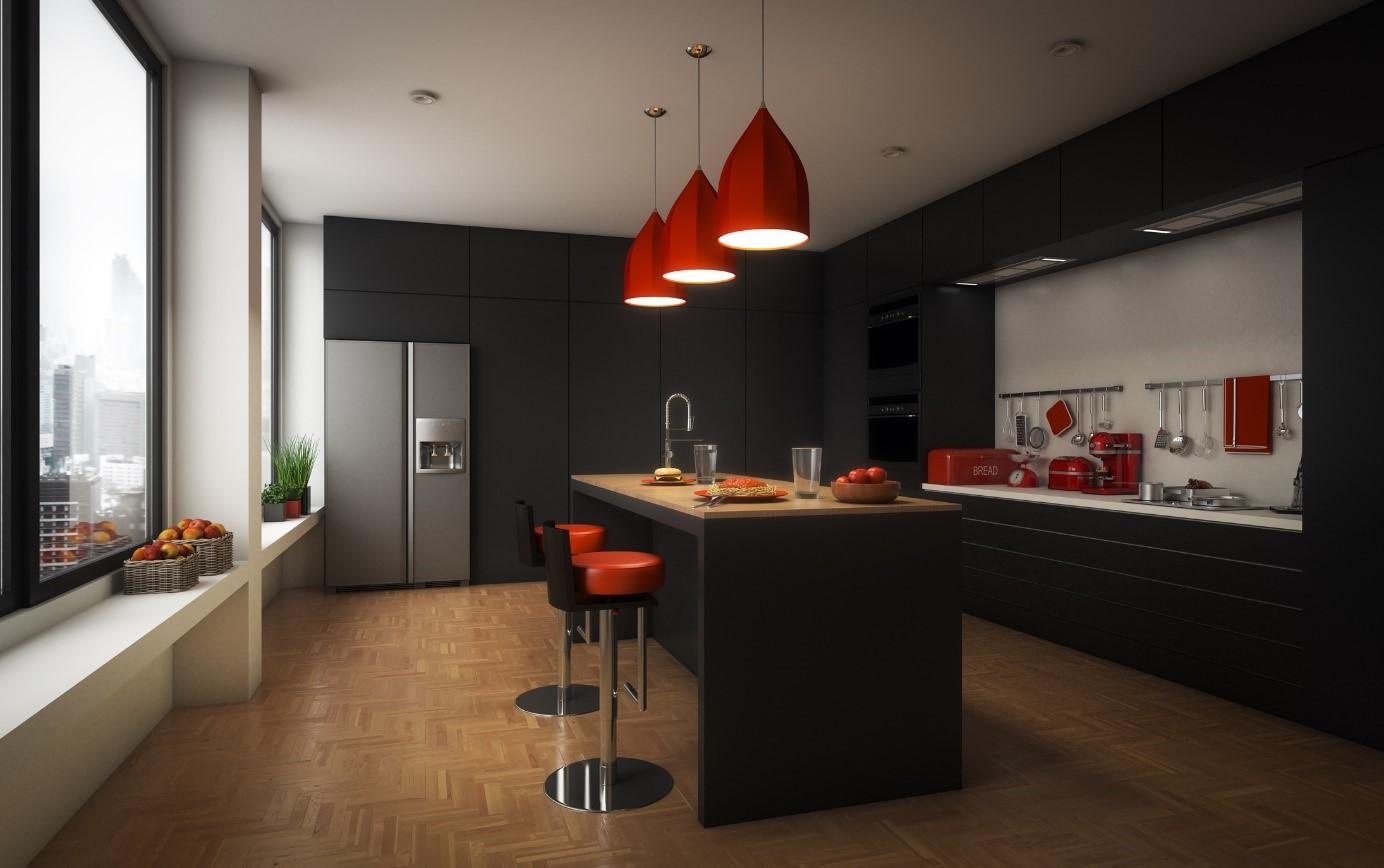 Donkere keuken