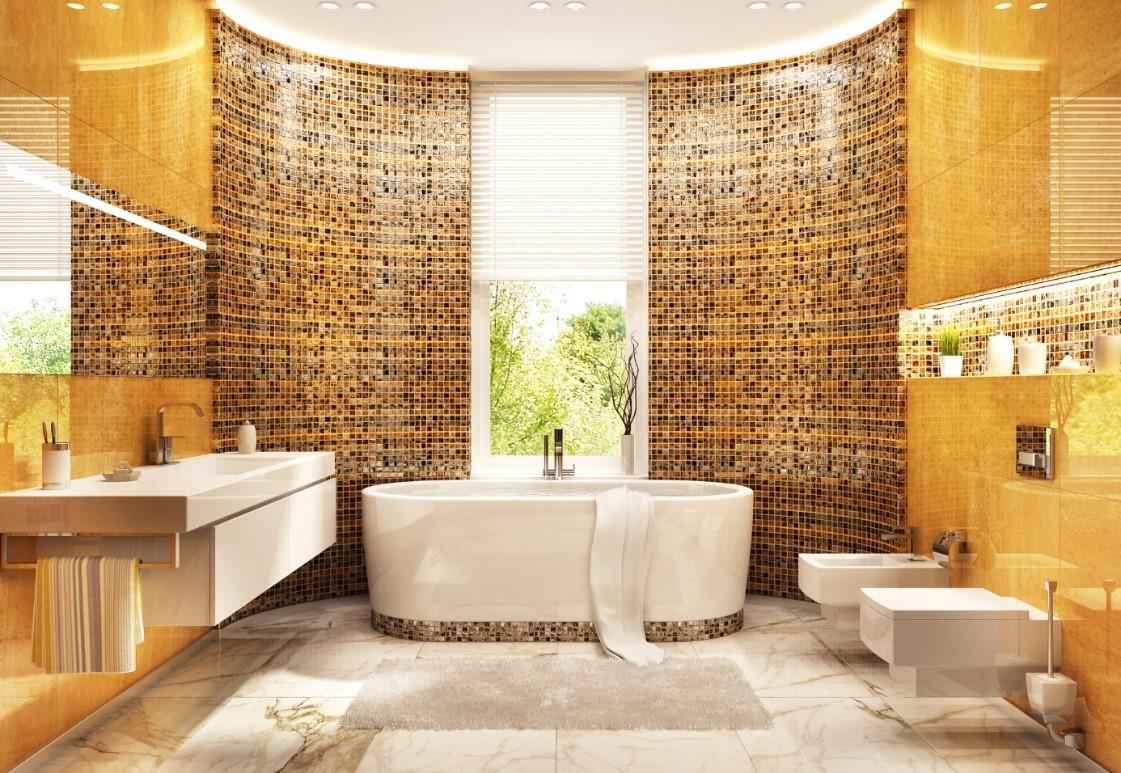 mozaiek in badkamer