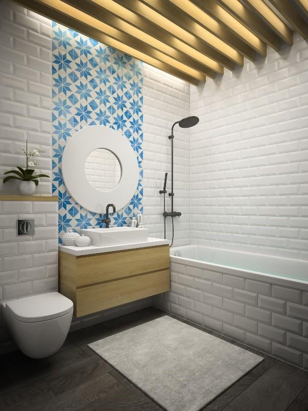 badkamer met portugese tegels