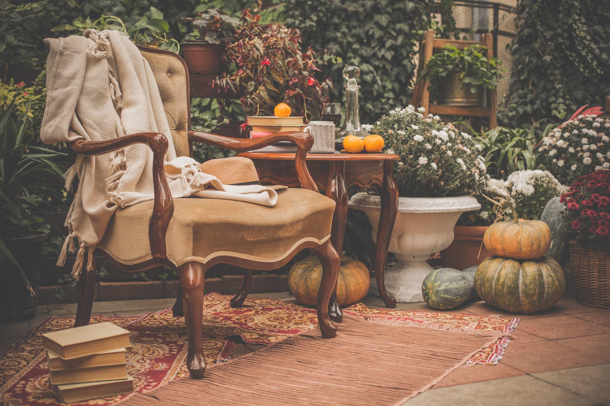 Herfst tuin decoraties