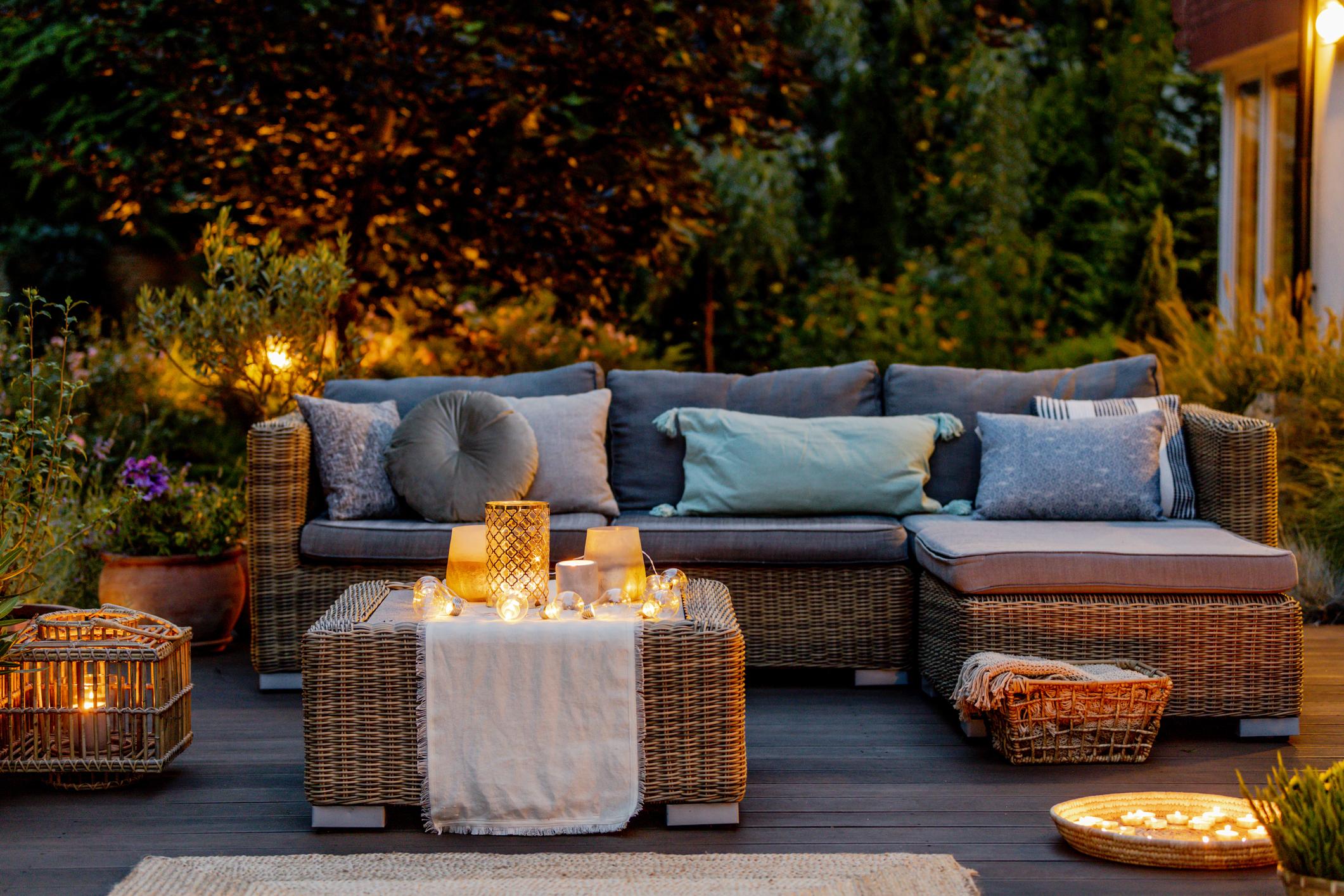 herfst tuin verlichting