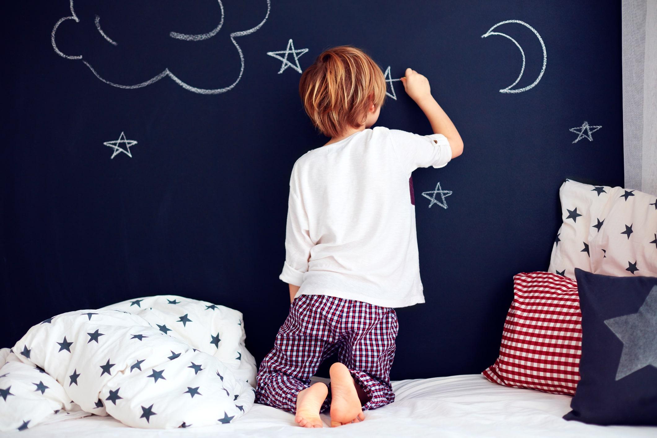 Blog kinderkamer inspiratie krijtbord muur